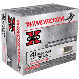 Winchester Super-X 41 Remington Magnum 175 Grain 20 Round Box X41MSTHP2