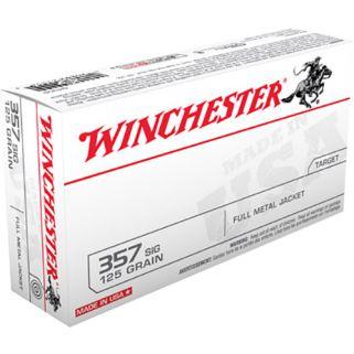 Winchester USA 357SIG 125 Grain FMJ 50 Round Box Q4309