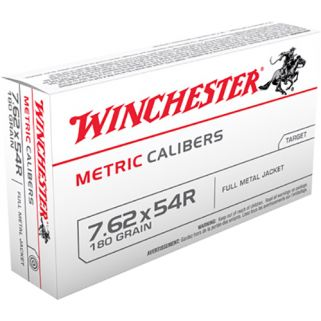 Winchester Metric 7.62x54mm Russian 180 Grain Brass 20 Round Box MC76254R