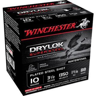 """Winchester Super-X Drylok Super Steel Magnum 10 Gauge BB Shot 3.5"""" 25 Round Box XSC10BB"""