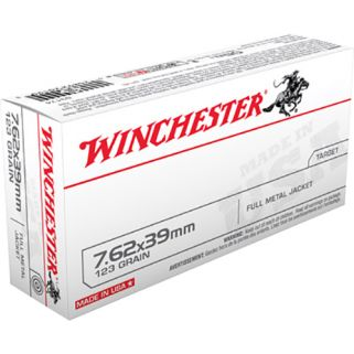 Winchester USA 7.62x39mm Russian 123 Grain FMJ 20 Round Box Q3174