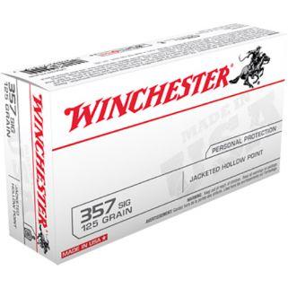 Winchester USA 357SIG 125 Grain JHP 50 Round Box USA357SJHP