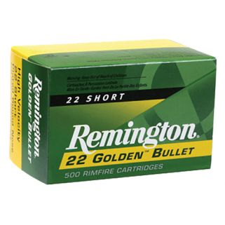 Remington Golden Bullet High Velocity 22 Short 29 Grain 100 Round Box 1000
