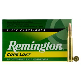 Remington Core-Lokt 270 Winchester 130 Grain Brass 20 Round Box R270W2