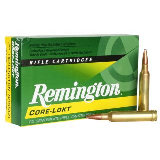 Remington Core-Lokt 7mm Remington Magnum 150 Grain Brass 20 Round Box R7MM2
