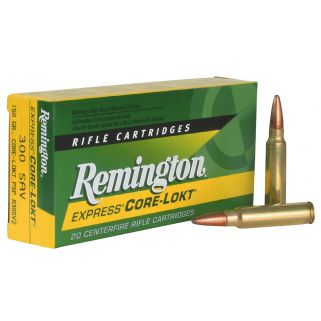 Remington Core-Lokt 300 Savage 150 Grain Brass 20 Round Box R30SV2