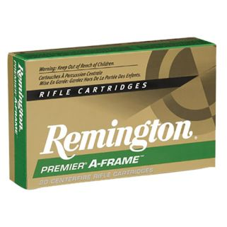 Remington Premier A-Frame 375 Remington Ultra Magnum 300 Grain Brass 20 Round Box PR375UM3