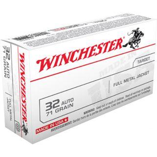 Winchester USA 32ACP 71 Grain FMJ 50 Round Box Q4255