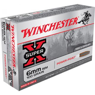 Winchester Super-X 6mm Remington 100 Grain 20 Round Box X6MMR2
