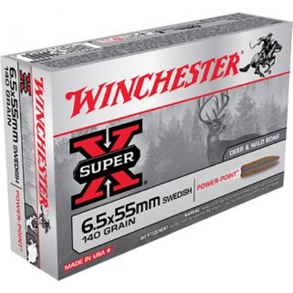 Winchester Super-X 6.5x55 Swedish 140 Grain Brass 20 Round Box X6555