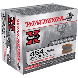 Winchester Super-X 454 Casull 250 Grain JHP 20 Round Box X454C3