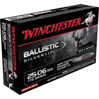 Winchester Ballistic Silvertip 25-06 Remington 115 Grain 20 Round Box SBST2506