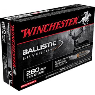 Winchester Ballistic Silvertip 280 Remington 140 Grain 20 Round Box SBST280