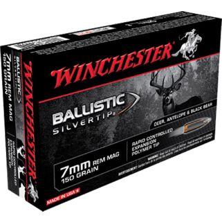 Winchester Supreme Ballistic Silvertip 7mm Remington Magnum 150 Grain 20 Round Box SBST7