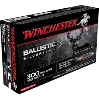 Winchester Ballistic Silvertip 300WIN Magnum 180 Grain 20 Round Box SBST300