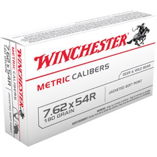 Winchester Metric 7.62x54mm Russian 180 Grain Brass 20 Round Box MC54RSP
