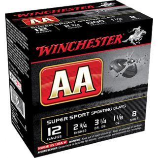 "Winchester AA Super Sport Sporting Clay 12 Gauge 9 Shot 2.75"" 25 Round Box AASC129"