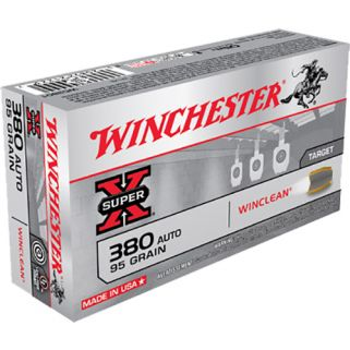 Winchester USA WinClean 380ACP 95 Grain Brass 50 Round Box WC3801