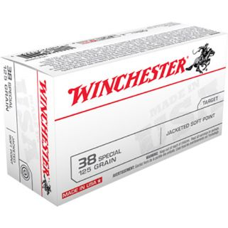 Winchester USA 38 Special 125 Grain JFP 50 Round Box USA38SP