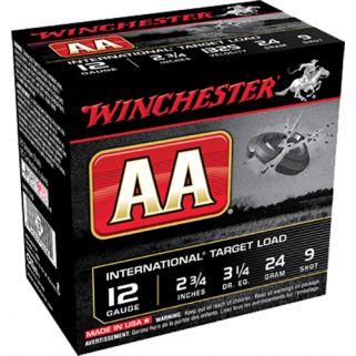"Winchester AA International Target 12 Gauge 9 Shot 2.75"" 25 Round Box AANL129"