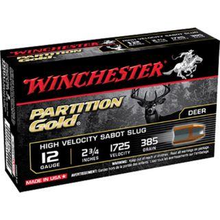 """Winchester Partition Gold 12 Gauge Sabot Slug Shot 2.75"""" 5 Round Box SSP12"""