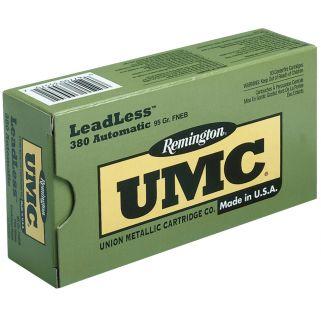 Remington UMC 380ACP 95 Grain Brass 50 Round Box LL380AP2