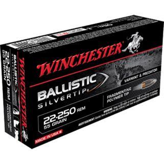 Winchester Ballistic Silvertip 22-250 Remington 55 Grain 20 Round Box SBST22250B