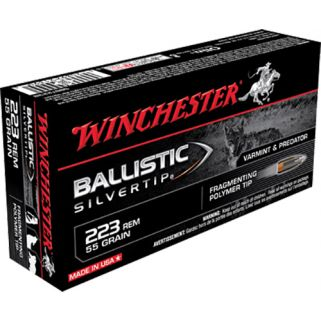 Winchester Ballistic Silvertip 223 Remington 55 Grain 20 Round Box SBST223B
