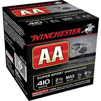 "Winchester AA Target Loads 410 Gauge 8.5 Shot 2.5"" 25 Round Box AASC4185"