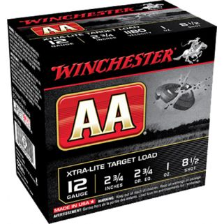 "Winchester AA Target Loads 12 Gauge 8.5 Shot 2.75"" 25 Round Box AAL1285"