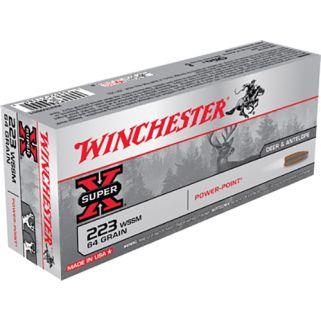 Winchester Super-X 223WSSM 64 Grain 20 Round Box X223WSS1