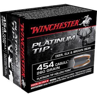 Winchester Supreme Platinum 454 Casull 260 Grain 20 Round Box S454PTHP
