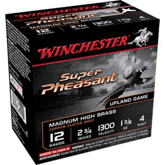 "Winchester Super-X Pheasant 12 Gauge 4 Shot 2.75"" 25 Round Box X12PH4"