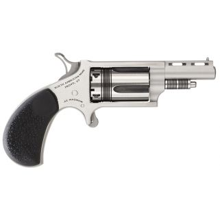 "NAA Mini Revolver WASP 22LR/22 Magnum 1.625"" Barrel W/ Half-Moon Sight 5Rd Rosewood Grip/Stainless 22MCTW"
