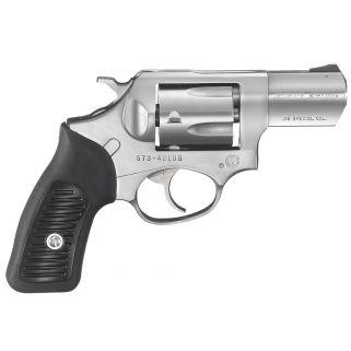 """Ruger SP101 Standard 38 Special 2.25"""" Barrel 5Rd Black Rubber Grip/Stainless Steel 5737"""