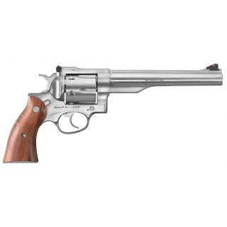 "Ruger Redhawk Stainless 44 Remington Magnum 7.5"" Barrel 6Rd Hardwood Grip/Stainless Steel 5001"