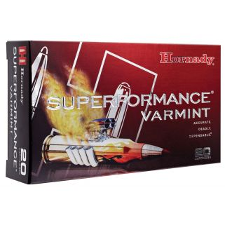 Hornady Superformance Varmint 22-250 Remington 50 Grain V-Max SP 20 Round Box 83366