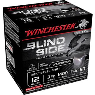 "Winchester Blindside 12 Gauge BB Shot 3.5"" 25 Rounds Box SBS12LBB"