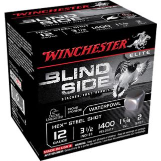 "Winchester Blindside 12 Gauge 2 Shot 3.5"" 25 Round Box SBS12L2"