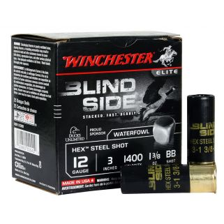 "Winchester Blindside Waterfowl 12 Gauge BB Shot 3"" 25 Round Box SBS123BB"