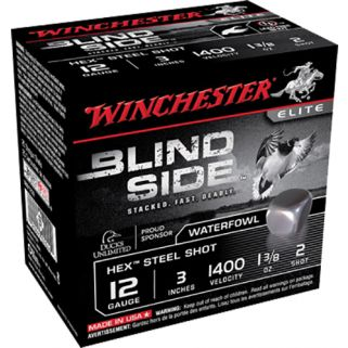 "Winchester Blindside 12 Gauge 2 Shot 3"" 25 Round Box SBS1232"
