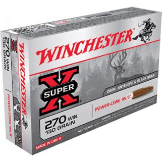 Winchester Super-X 270WIN 130 Grain 20 Round Box X270WLF