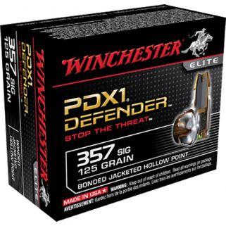 Winchester PDX1 Defender 357SIG 125 Grain 20 Round Box S357SPDB