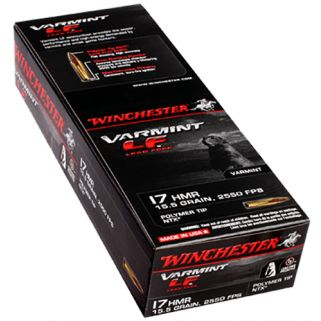 Winchester Varmint LF 17HMR 15.5 Grain 50 Round Box S17HMR1LF