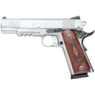"""Smith & Wesson 1911 E Series 45ACP 5"""" Barrel W/Tritium Night Sights 8+1 Laminate Wood Grip/Stainless 108411"""