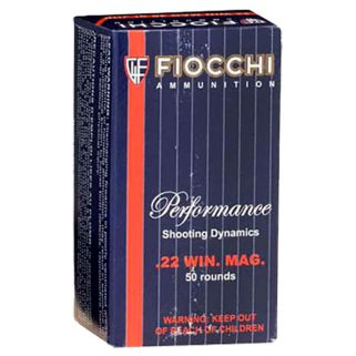 Fiocchi Shooting Dynamics 22WMR 40 Grain JHP 50 Round Box 22FWMB