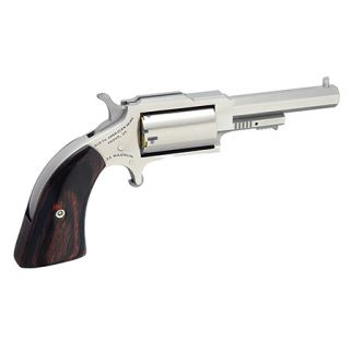 "NAA The Sheriff 22LR/22 Magnum 2.5"" Barrel W/ Fixed Sights 5Rd Wood Grip/Stainless 1860250C"