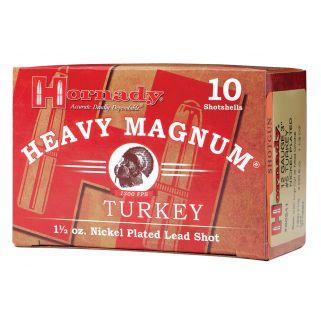 """Hornady Heavy Magnum Shotgun 12 Gauge #4 Nickel 3"""" Turkey 10 Round Box 86242"""