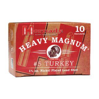 """Hornady Heavy Magnum Shotgun 12 Gauge #6 Nickel 3"""" 10 Round Box 86244"""