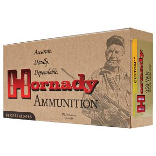 Hornady Custom 358WIN 200 Grain SP 20 Round Box 91318